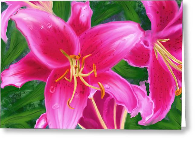 Hawaiian Flowers Greeting Card