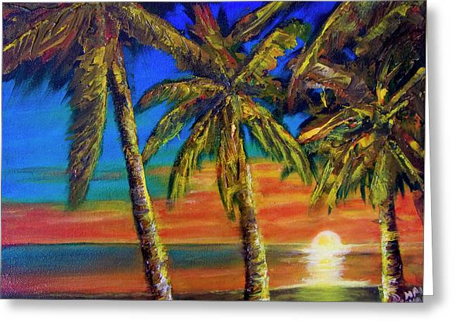 Hawaiian Moon #404 Greeting Card by Donald k Hall