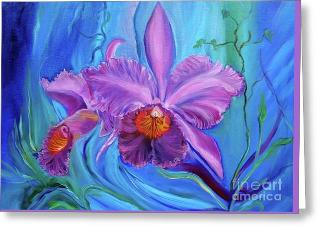 Hawaiian Orchid Lavender Jenny Lee Discount Greeting Card