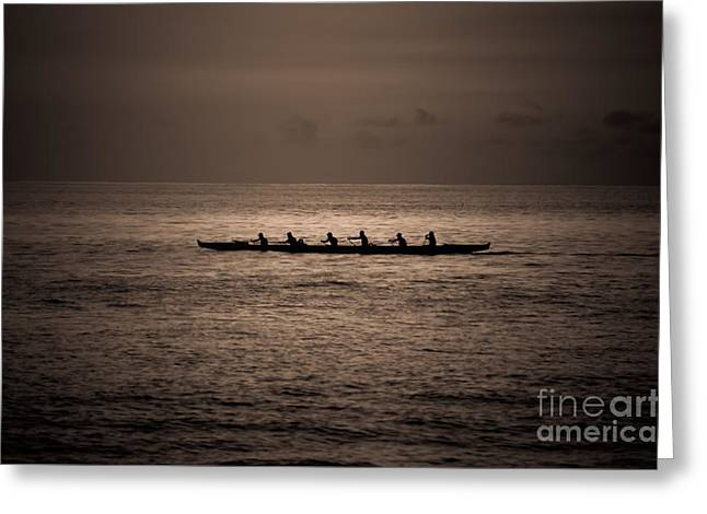 Greeting Card featuring the photograph Hawaiian Outrigger by Kelly Wade