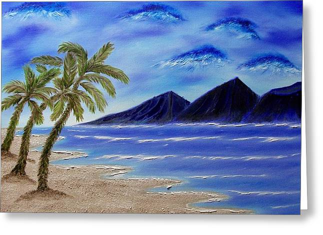 Hawaiian Palms Greeting Card by Marie Lamoureaux