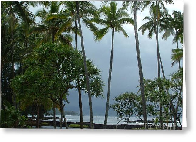 Hawaiian Paradise Greeting Card by Garnett  Jaeger