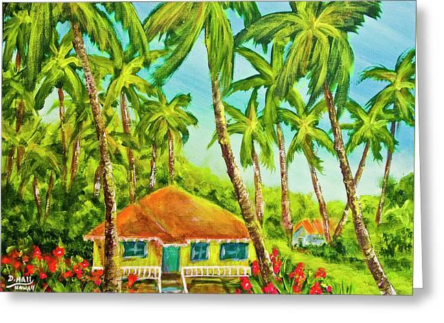 Hawaiian Plantation Home #390 Greeting Card by Donald k Hall