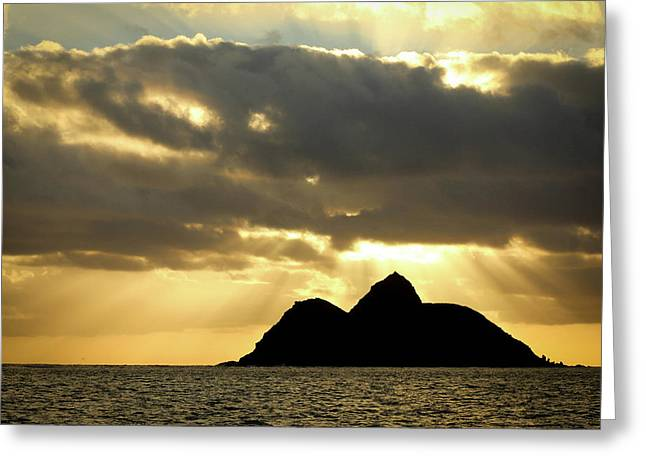 Hawaiian Sunrise Greeting Card by Carolyn Ricks