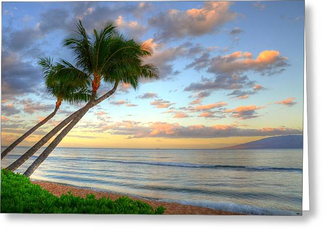Hawaiian Sunrise Greeting Card by Kelly Wade