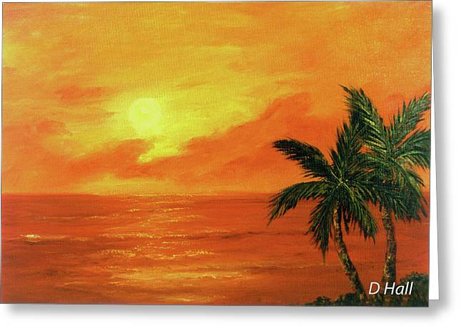 Hawaiian Sunset #27 Greeting Card by Donald k Hall
