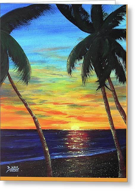 Hawaiian Sunset #340 Greeting Card by Donald k Hall
