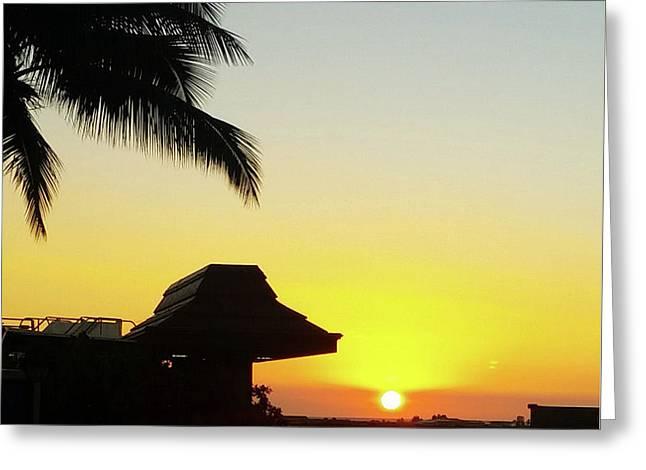 Hawaiian Sunset Greeting Card by Luke Johnson