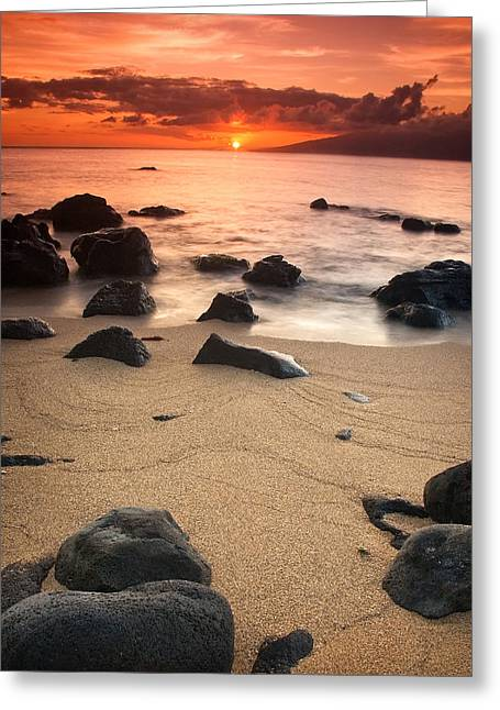 Hawaiian Sunset Greeting Card by Nolan Nitschke