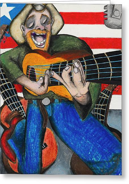 Lahaina Greeting Cards - Hawaiian-Texas-Tunes Greeting Card by Billy Knows