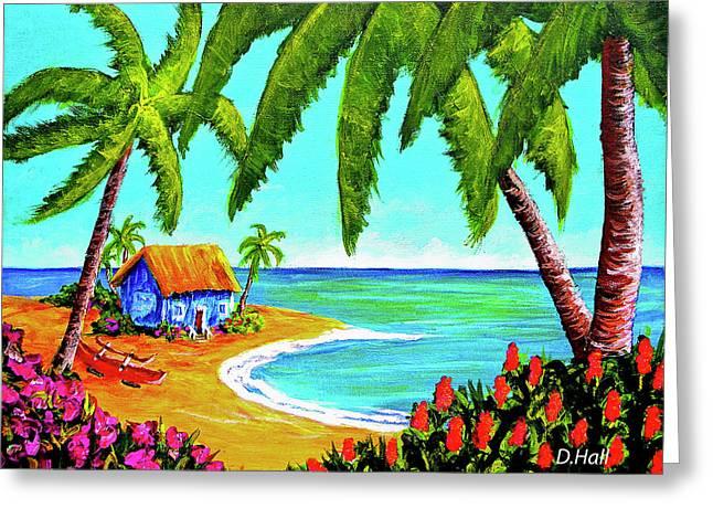 Hawaiian Tropical Beach  #364 Greeting Card by Donald k Hall