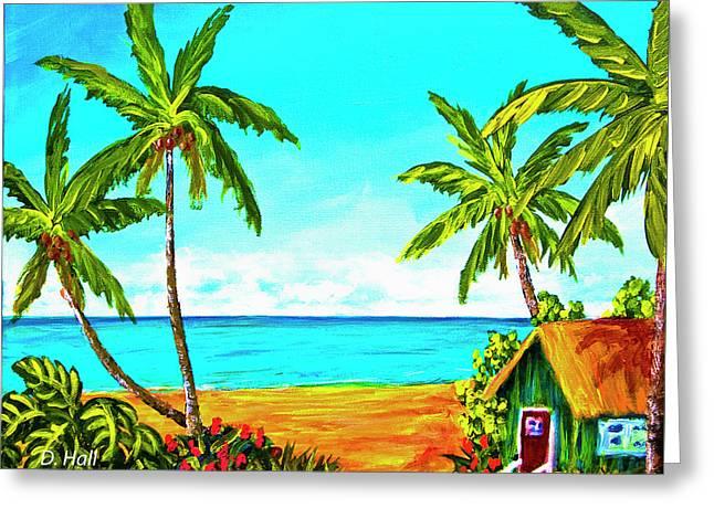 Hawaiian Tropical Beach #366  Greeting Card by Donald k Hall