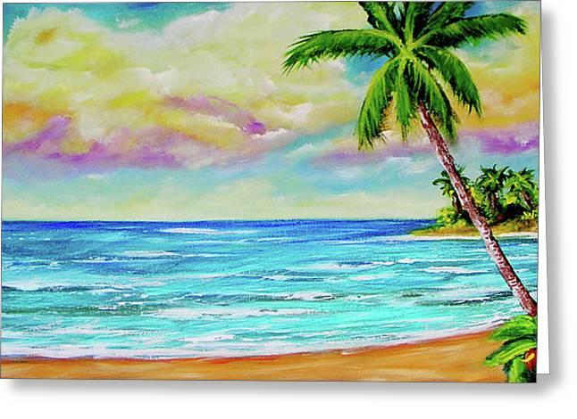 Hawaiian Tropical Beach #408 Greeting Card by Donald k Hall