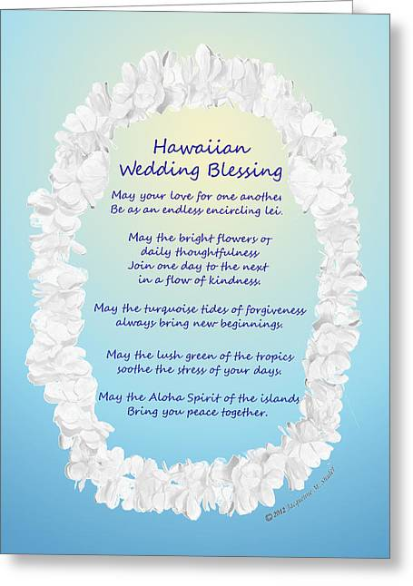 Hawaiian Wedding Blessing Greeting Card