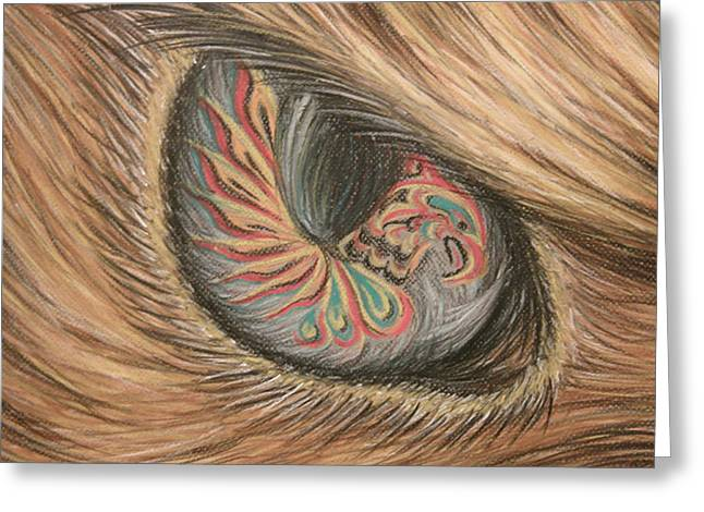 Hawk Eye Thunderbird Greeting Card by Alysa Sheats