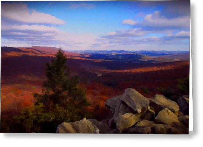 Greeting Card featuring the photograph Hawk Mountain Pennsylvania by David Dehner