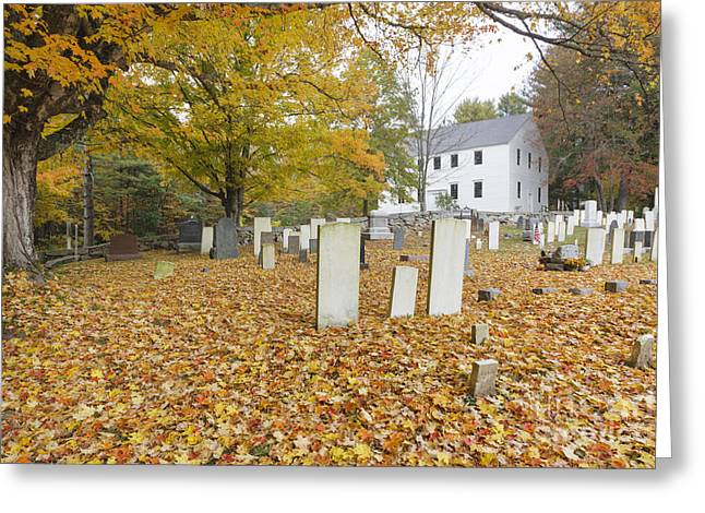 Hawke Meetinghouse - Danville New Hampshire Greeting Card by Erin Paul Donovan