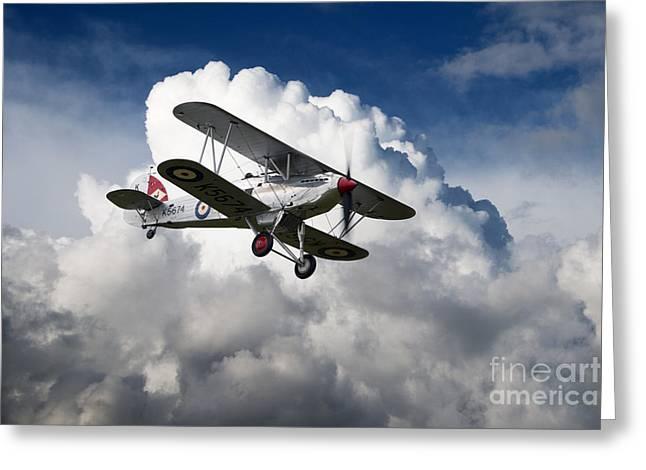 Hawker Fury Greeting Card