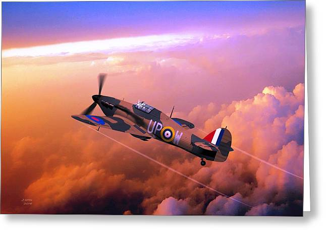 Hawker Hurricane British Fighter Greeting Card