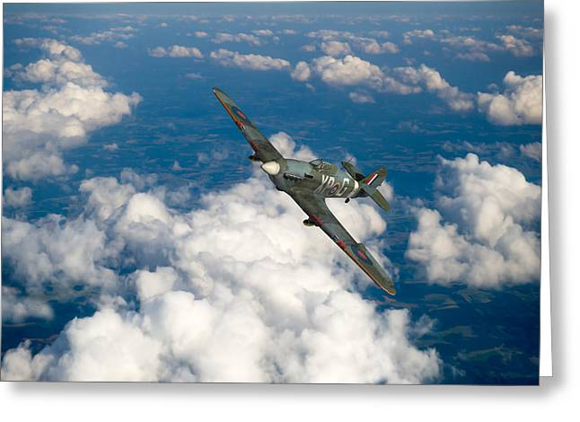 Greeting Card featuring the photograph Hawker Hurricane IIb Of 174 Squadron by Gary Eason