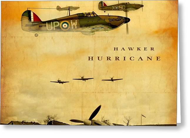 Hawker Hurricane Raf Greeting Card by John Wills