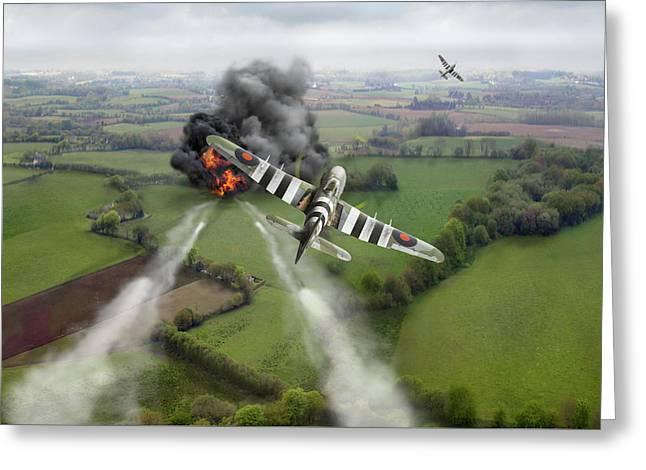 Greeting Card featuring the photograph Hawker Typhoon Rocket Attack by Gary Eason