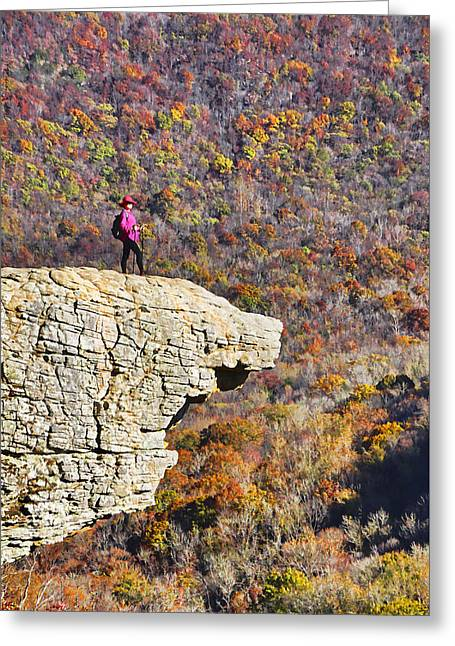 Hawksbill Crag In Autumn Greeting Card by Dennis Cox WorldViews