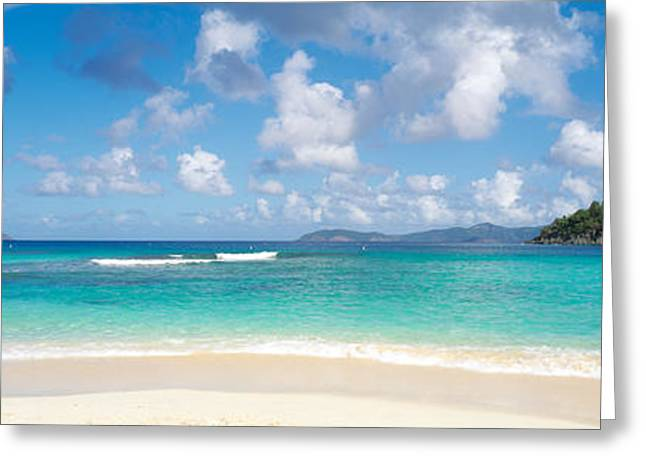 Hawksnest Bay Virgin Islands National Greeting Card by Panoramic Images