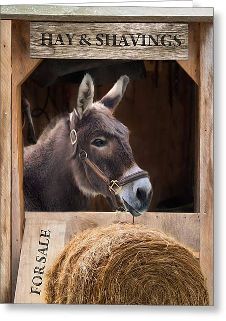 Greeting Card featuring the photograph Hay And Shavings by Robin-Lee Vieira