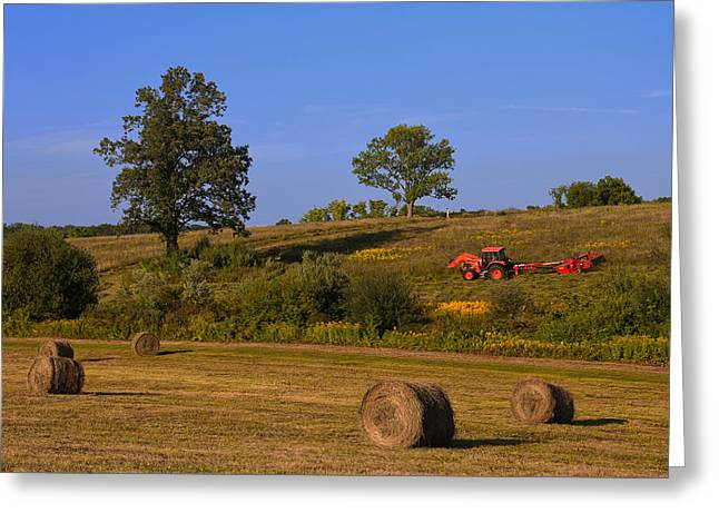 Hay Bale Season Greeting Card