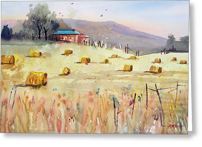 Hay Bales Greeting Card by Ryan Radke