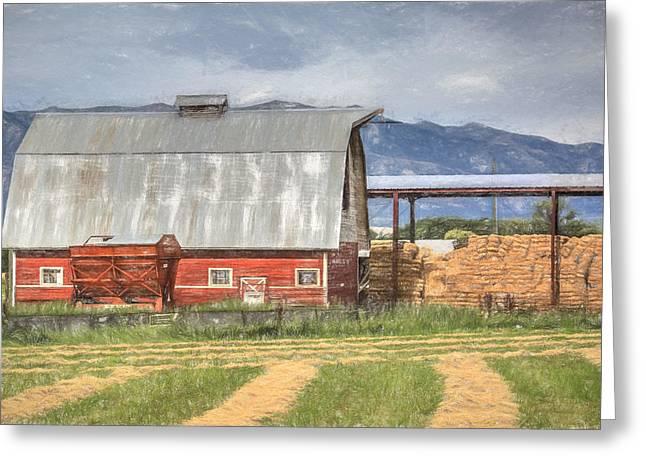 Hay Barn Greeting Card by Donna Kennedy