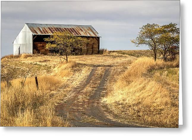 Hay Barn Near Gifford Idaho Greeting Card by Brad Stinson