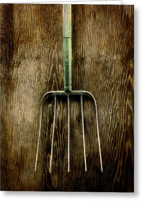 Tools On Wood 7 Greeting Card by Yo Pedro