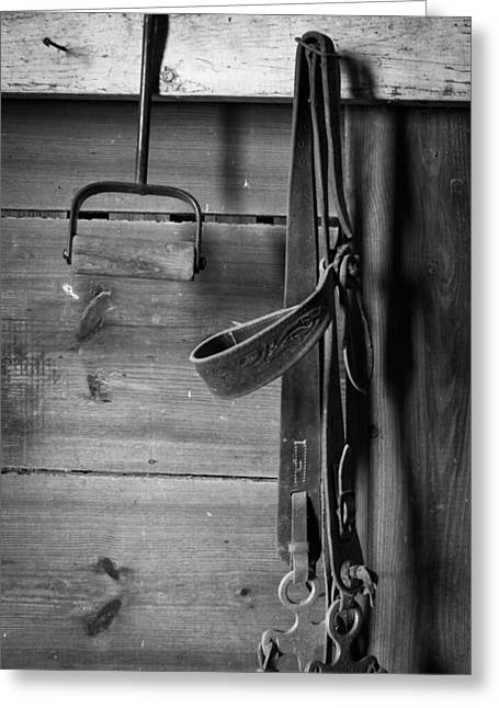 Hay Hook And Harness Greeting Card