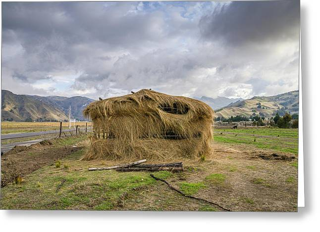 Hay Hut In Andes Greeting Card