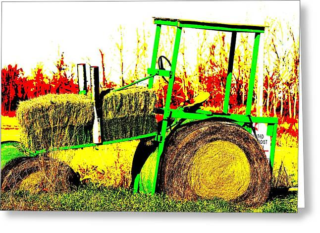 Hay It's A Tractor Greeting Card