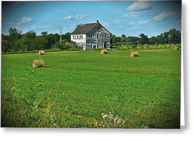 Hay Rolls On S.r. 13 Greeting Card