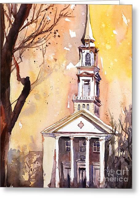 Hayes Barton Church Raleigh Nc Greeting Card by Ryan Fox
