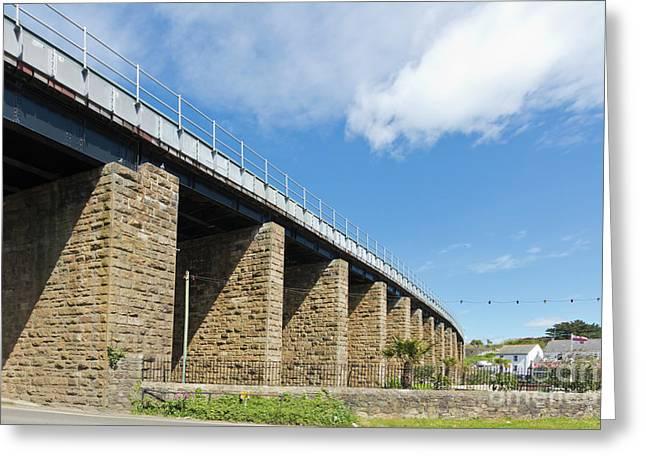 Hayle Railway Bridge Greeting Card by Terri Waters