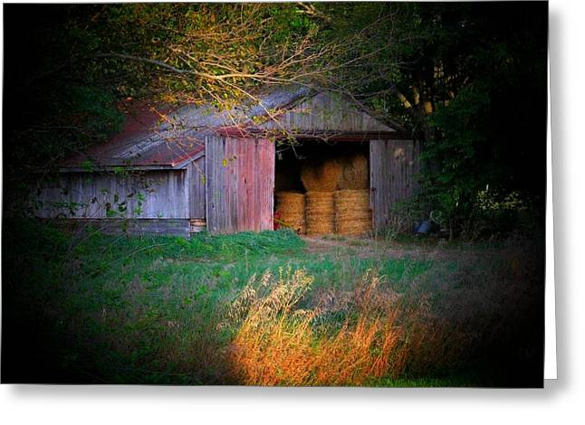 Hayroll Barn Greeting Card