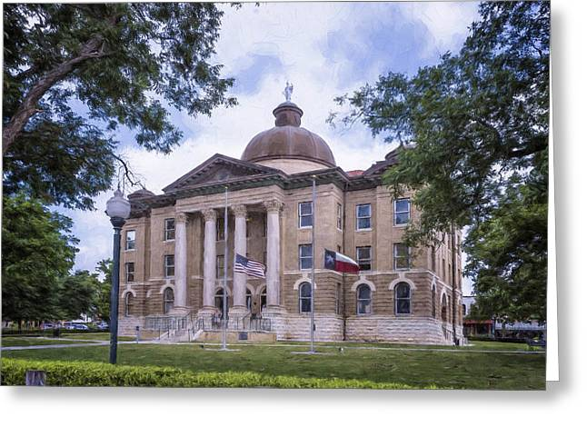 Hays County Courthouse Greeting Card by Joan Carroll