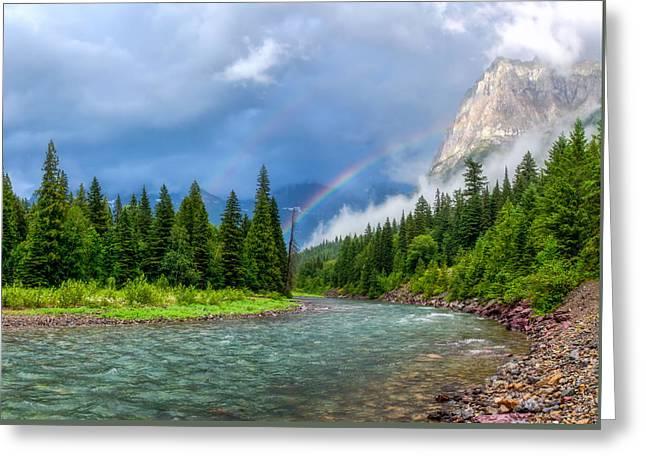 Haystack Creek- Glacier National Park Greeting Card