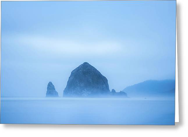 Haystack Rock Greeting Card by Joseph Smith