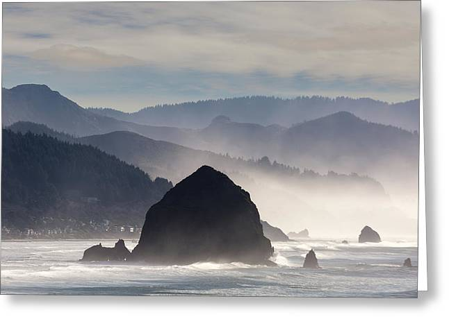 Haystack Rock On The Oregon Coast In Cannon Beach Greeting Card