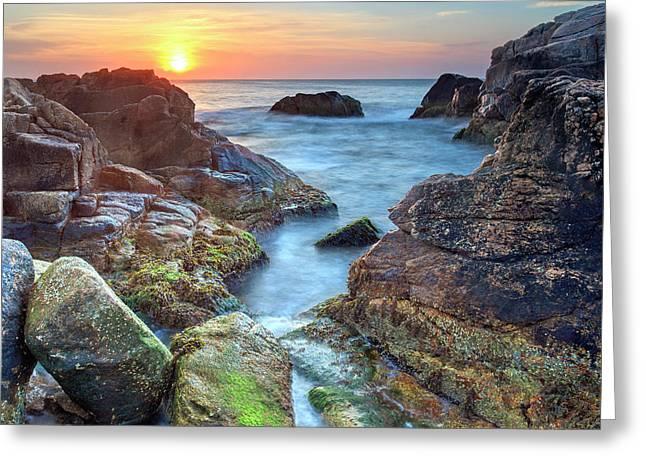 Hazard Rocks Sunrise I Greeting Card