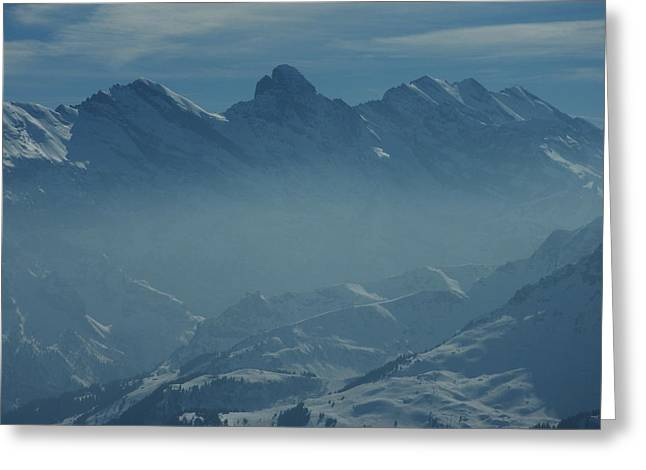 Haze In The Valley Greeting Card