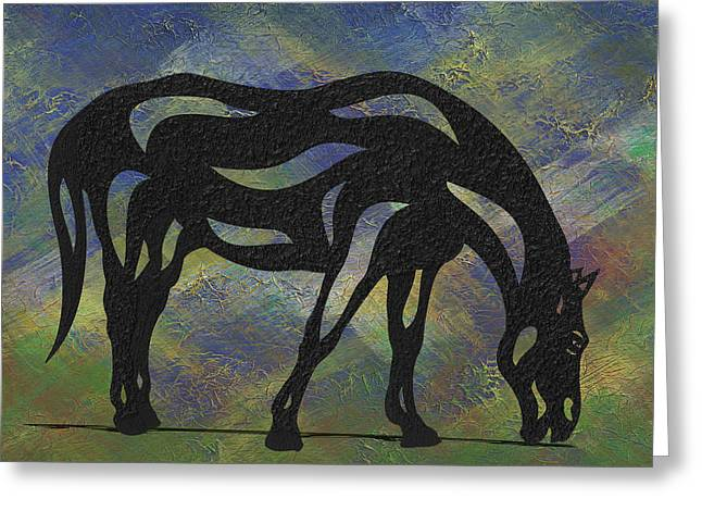 Hazel - Abstract Horse Greeting Card
