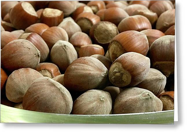 Hazelnuts Greeting Card by Contemporary Art