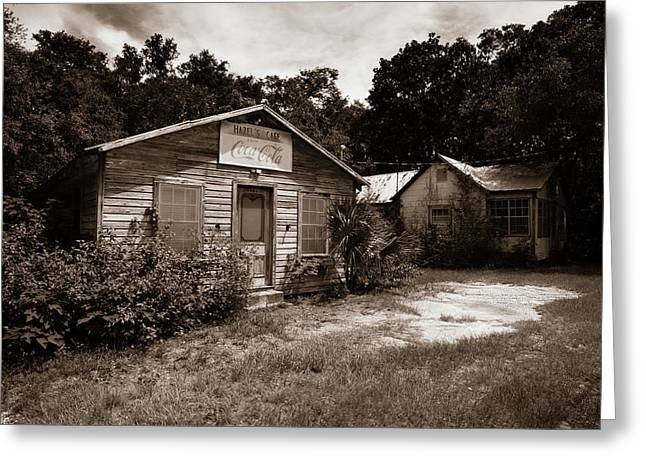 Greeting Card featuring the photograph Hazel's Cafe by Chris Bordeleau